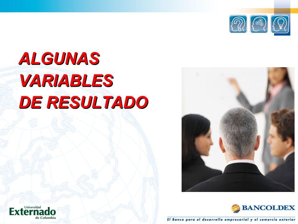 ALGUNAS VARIABLES DE RESULTADO