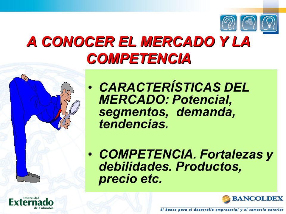 A CONOCER EL MERCADO Y LA COMPETENCIA