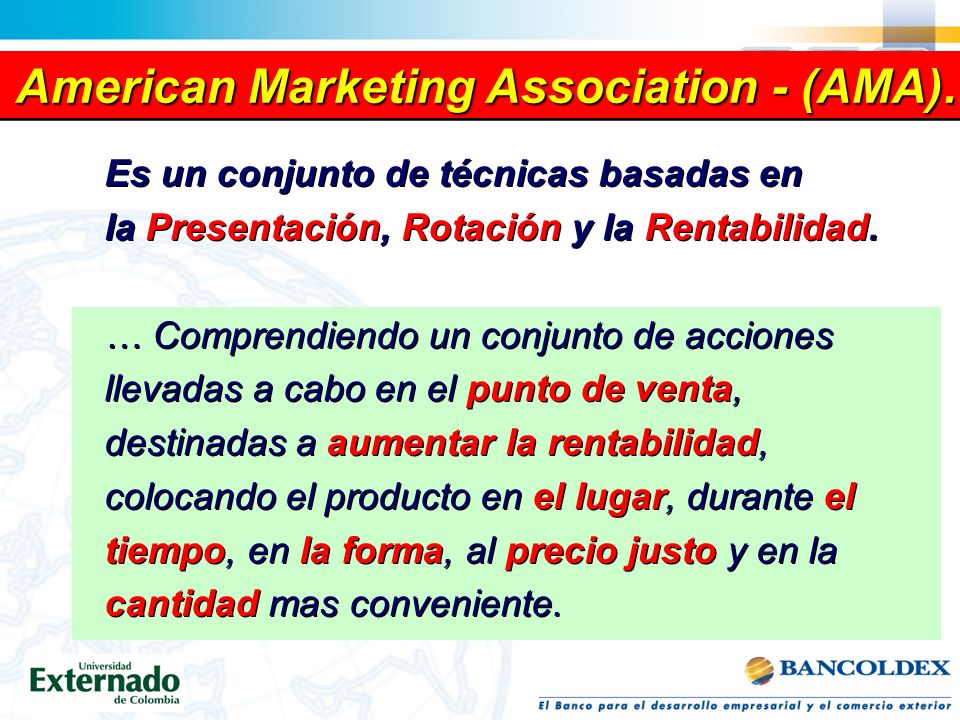 American Marketing Association - (AMA).