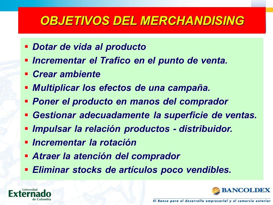 OBJETIVOS DEL MERCHANDISING