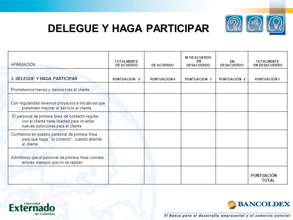 DELEGUE Y HAGA PARTICIPAR