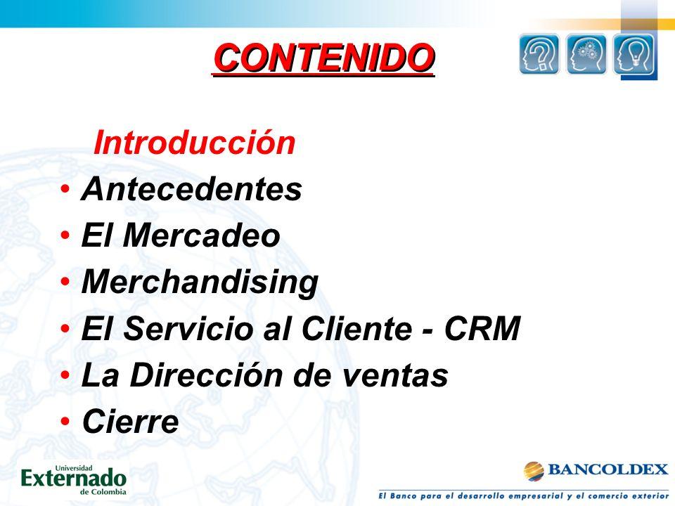 CONTENIDO Introducción Antecedentes El Mercadeo Merchandising