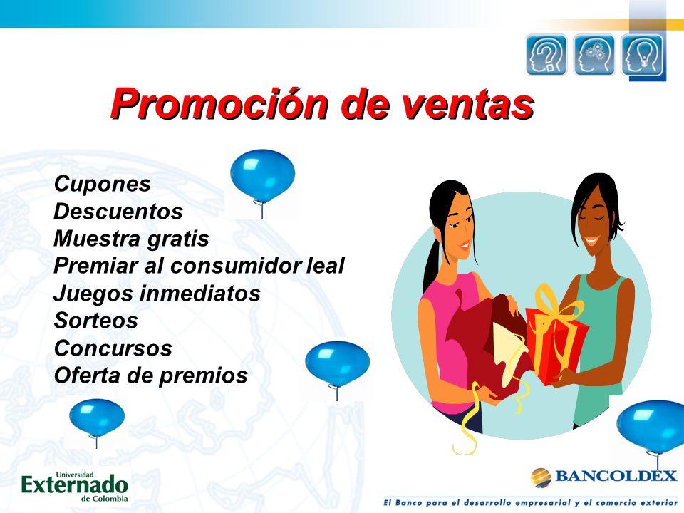 Promoción de ventas Cupones Descuentos Muestra gratis