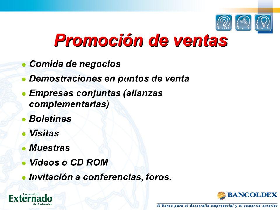 Promoción de ventas Comida de negocios