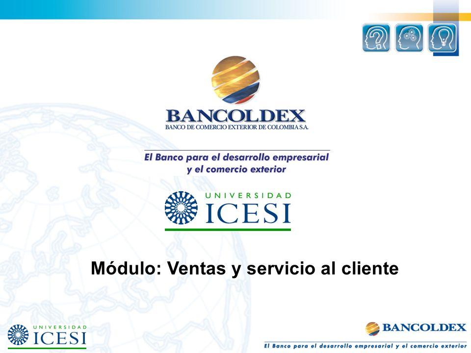Módulo: Ventas y servicio al cliente