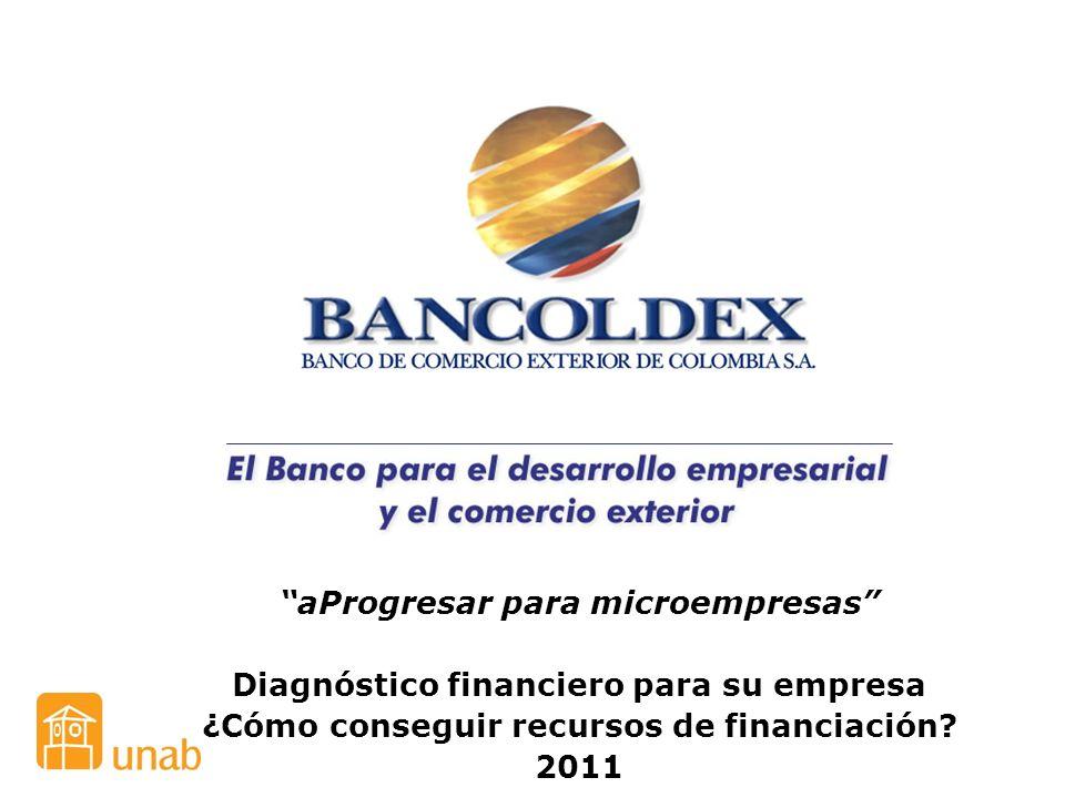 aProgresar para microempresas Diagnóstico financiero para su empresa