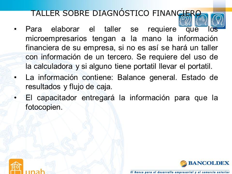 TALLER SOBRE DIAGNÓSTICO FINANCIERO