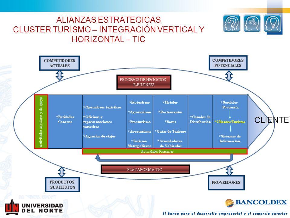 ALIANZAS ESTRATEGICAS CLUSTER TURISMO – INTEGRACIÓN VERTICAL Y HORIZONTAL – TIC