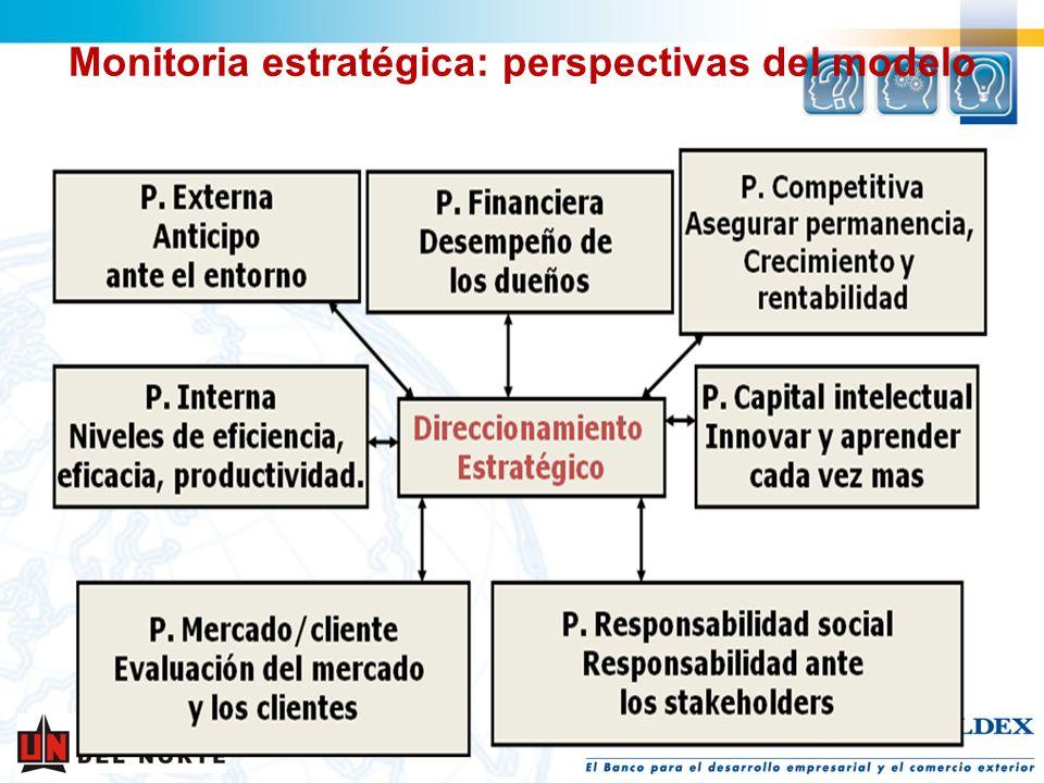 Monitoria estratégica: perspectivas del modelo