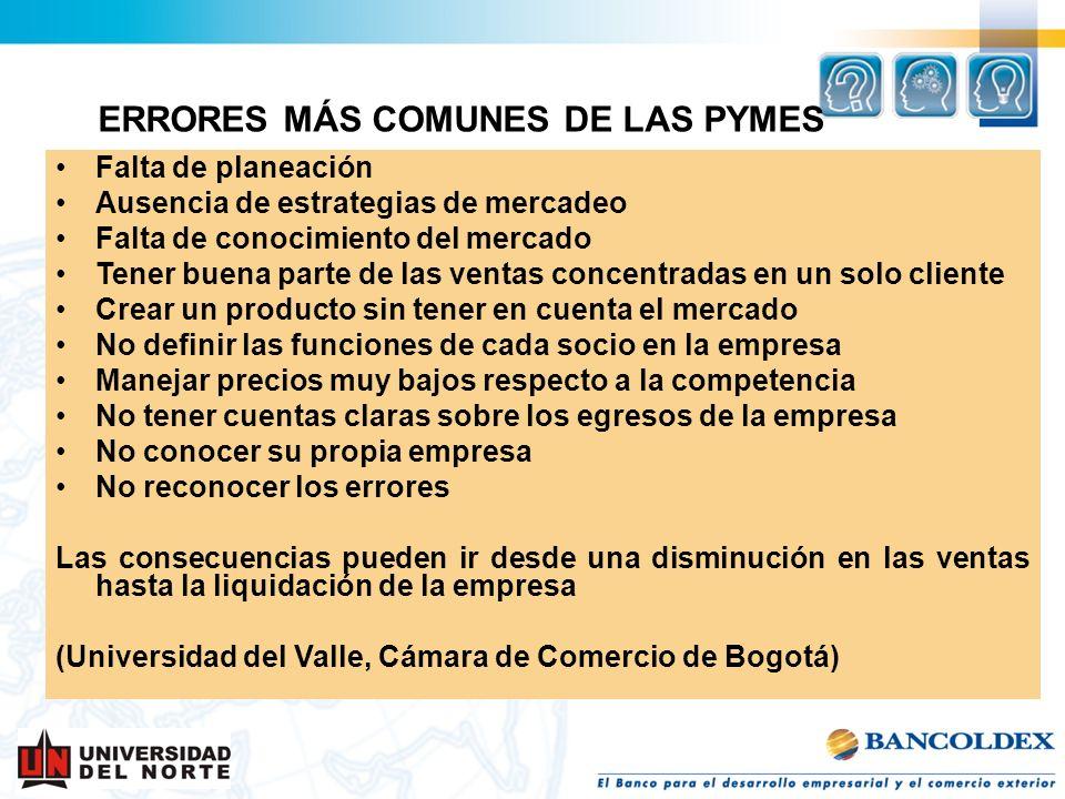 ERRORES MÁS COMUNES DE LAS PYMES