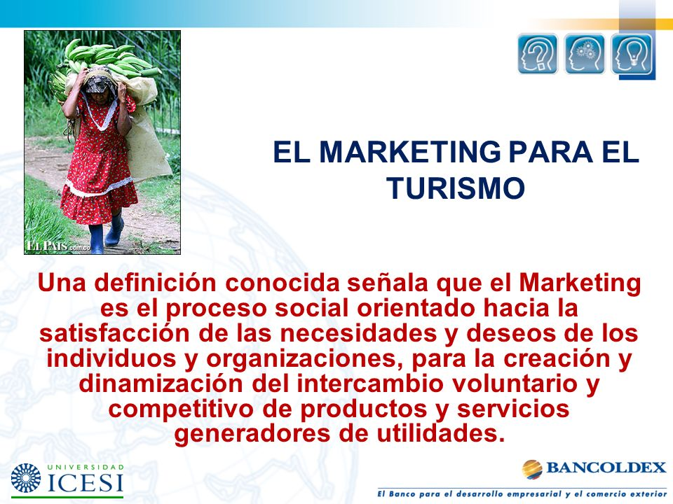 EL MARKETING PARA EL TURISMO