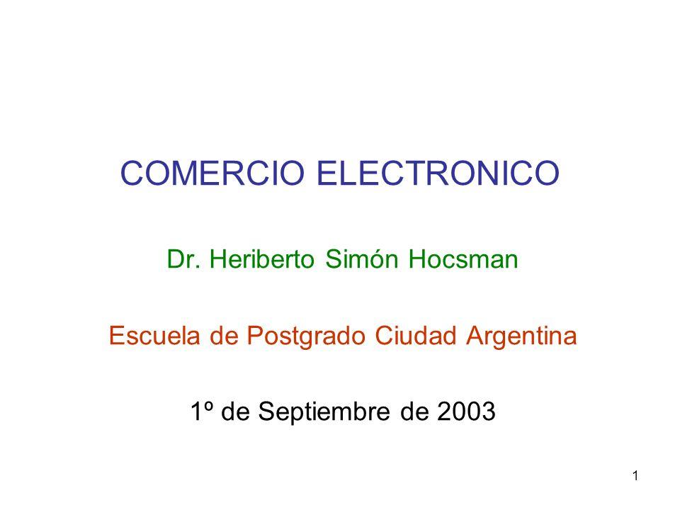 COMERCIO ELECTRONICO Dr. Heriberto Simón Hocsman