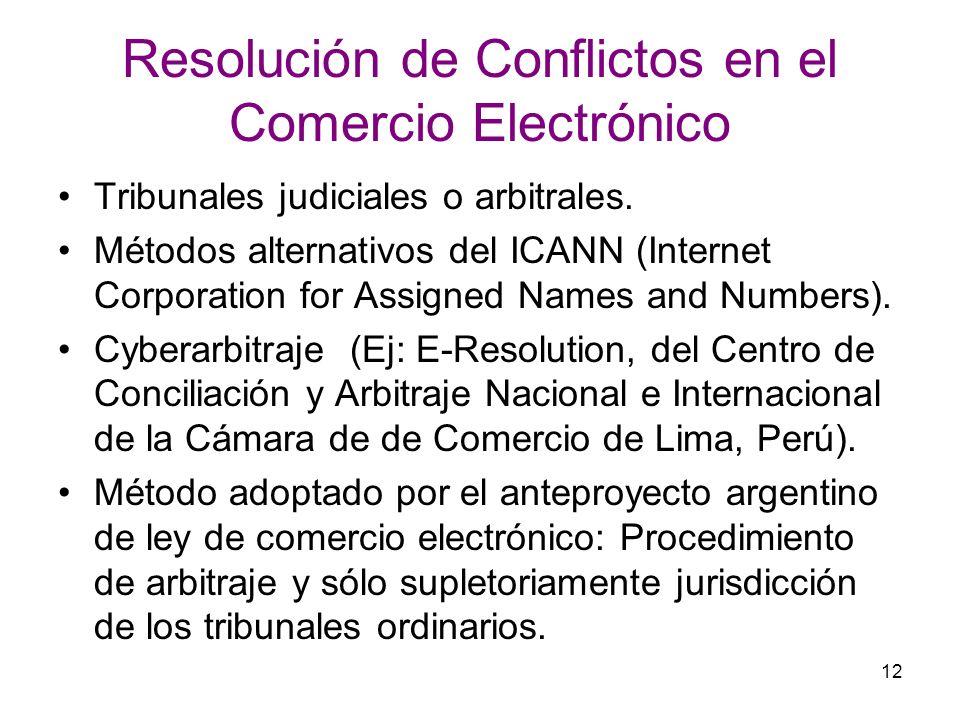 Resolución de Conflictos en el Comercio Electrónico