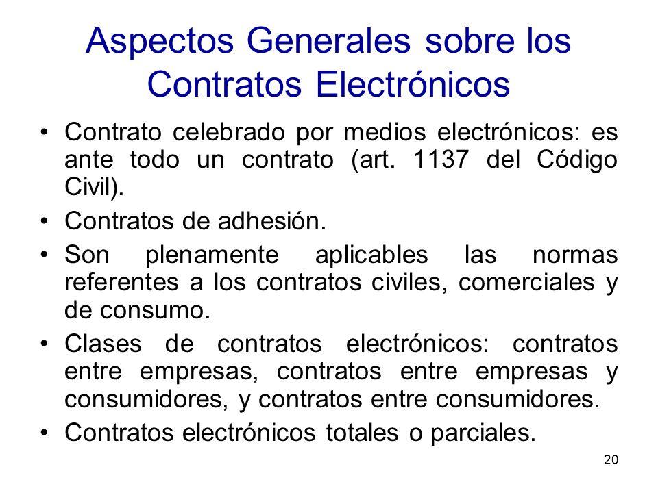 Aspectos Generales sobre los Contratos Electrónicos