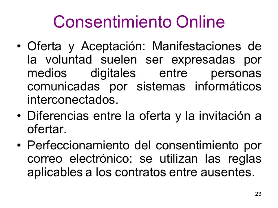 Consentimiento Online