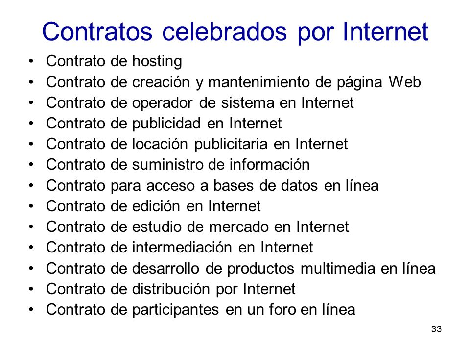 Contratos celebrados por Internet