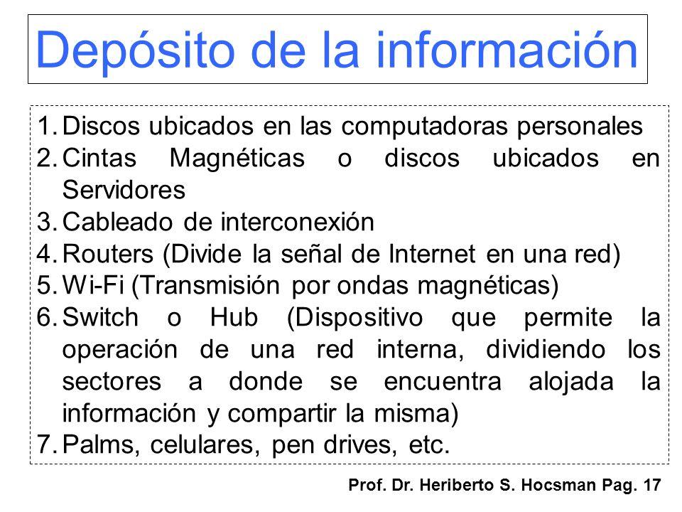 Depósito de la información
