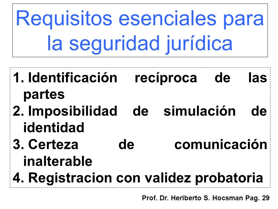 Requisitos esenciales para
