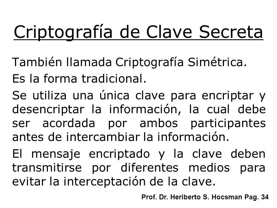 Criptografía de Clave Secreta