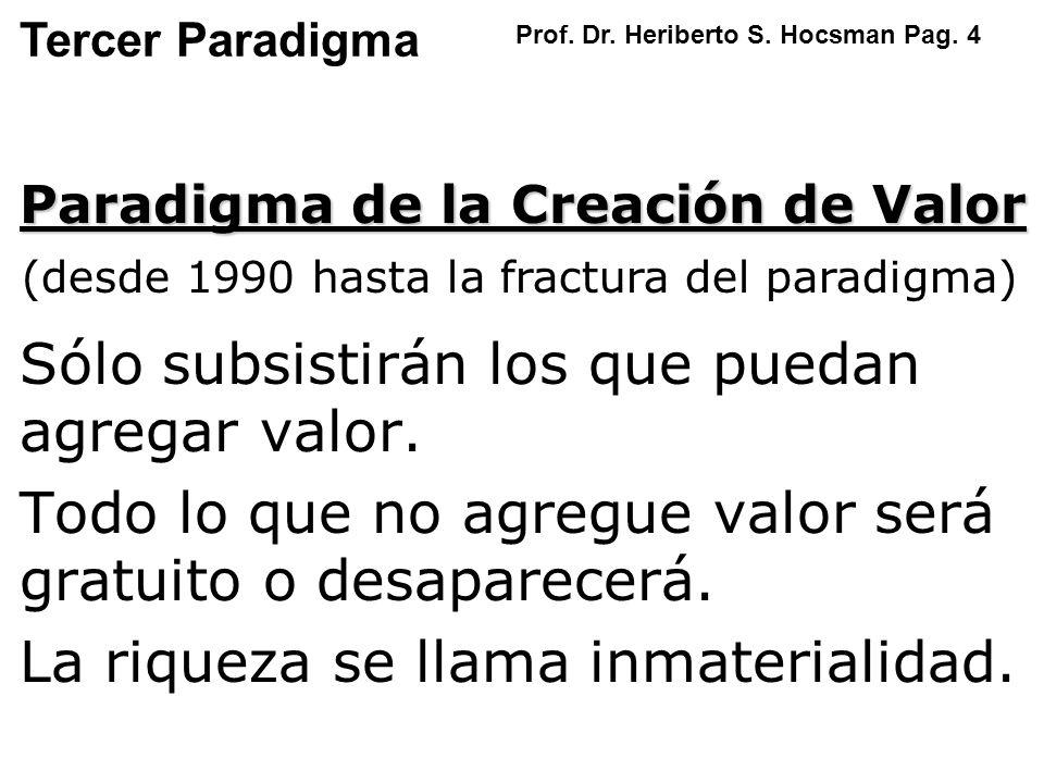 (desde 1990 hasta la fractura del paradigma)