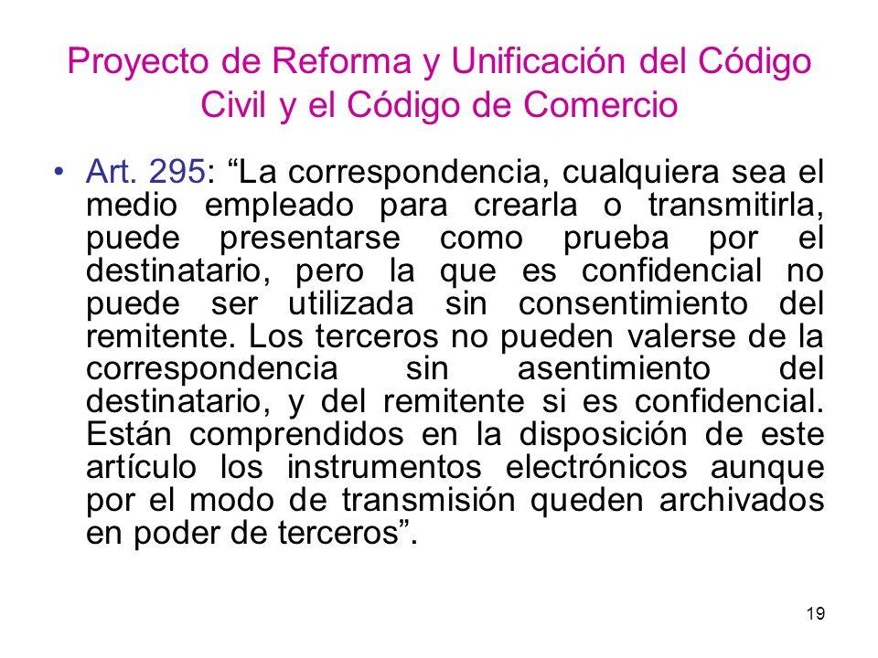 Proyecto de Reforma y Unificación del Código Civil y el Código de Comercio