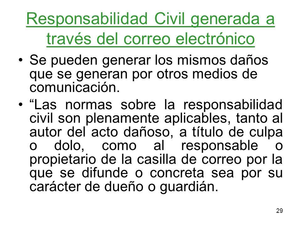 Responsabilidad Civil generada a través del correo electrónico