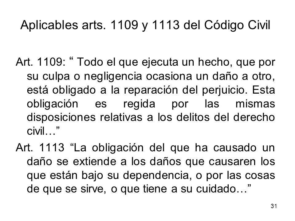 Aplicables arts. 1109 y 1113 del Código Civil