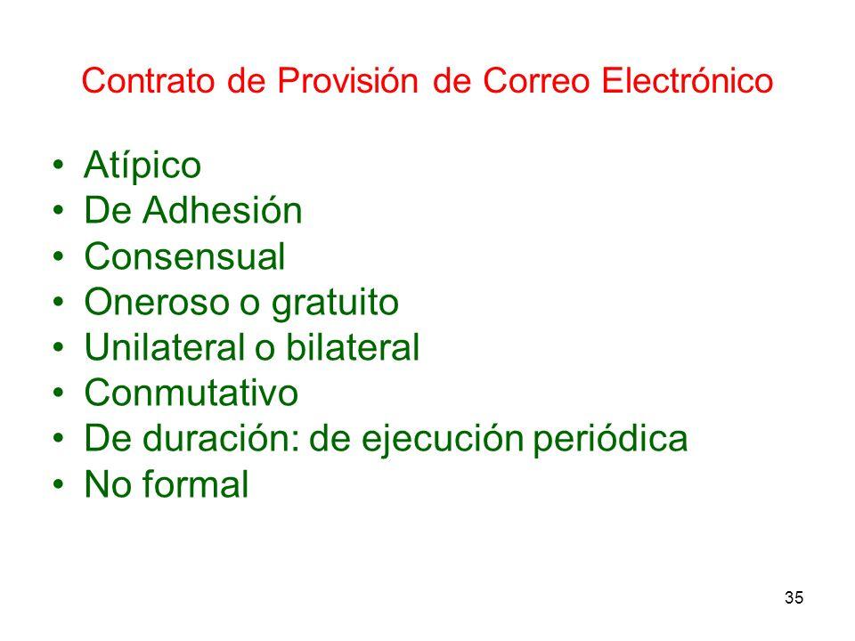 Contrato de Provisión de Correo Electrónico