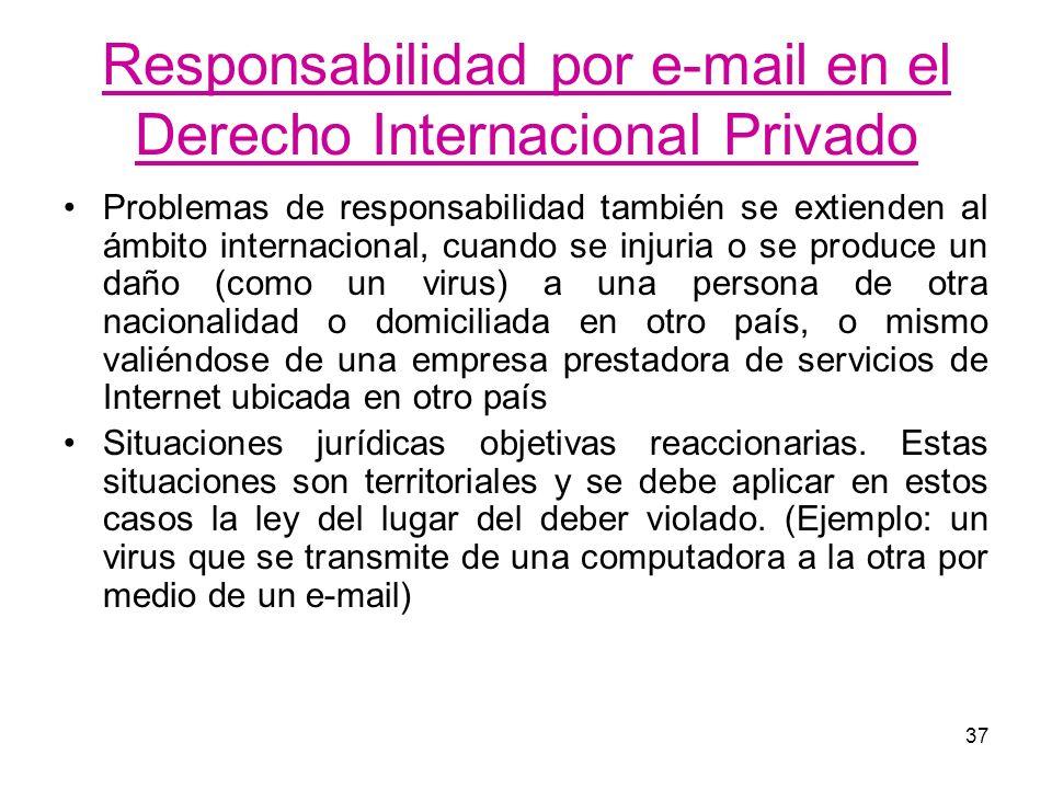 Responsabilidad por e-mail en el Derecho Internacional Privado