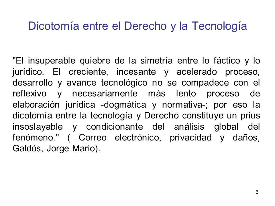 Dicotomía entre el Derecho y la Tecnología