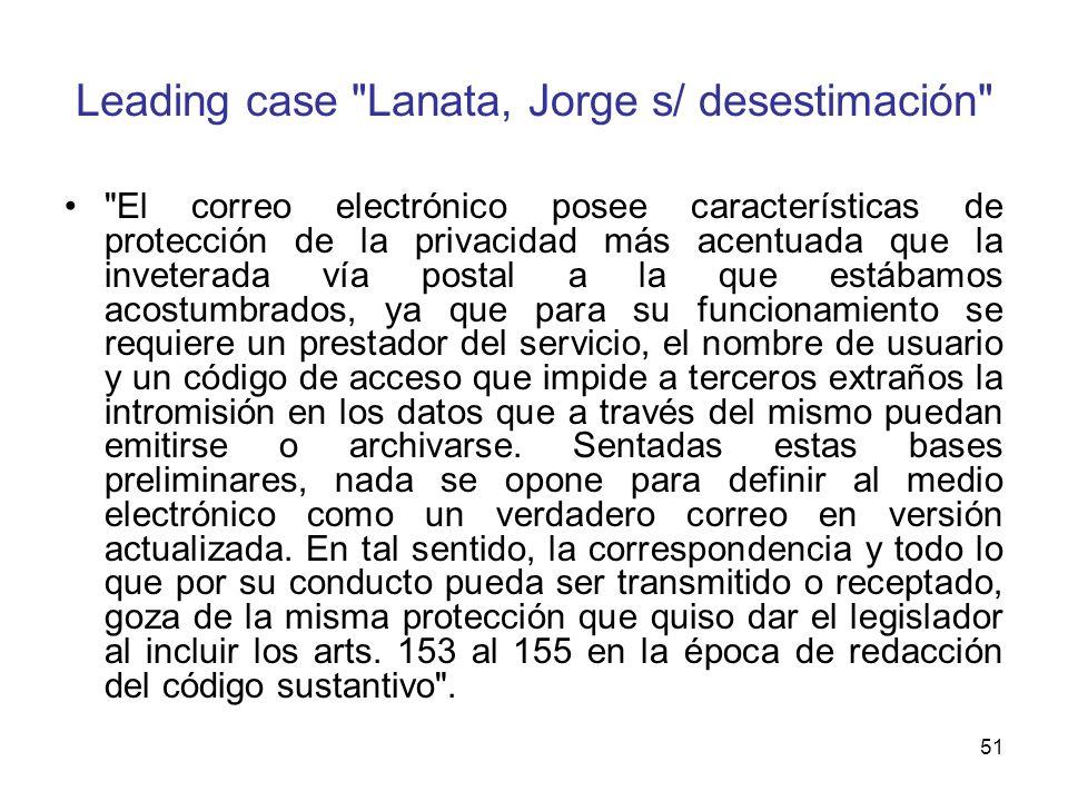 Leading case Lanata, Jorge s/ desestimación