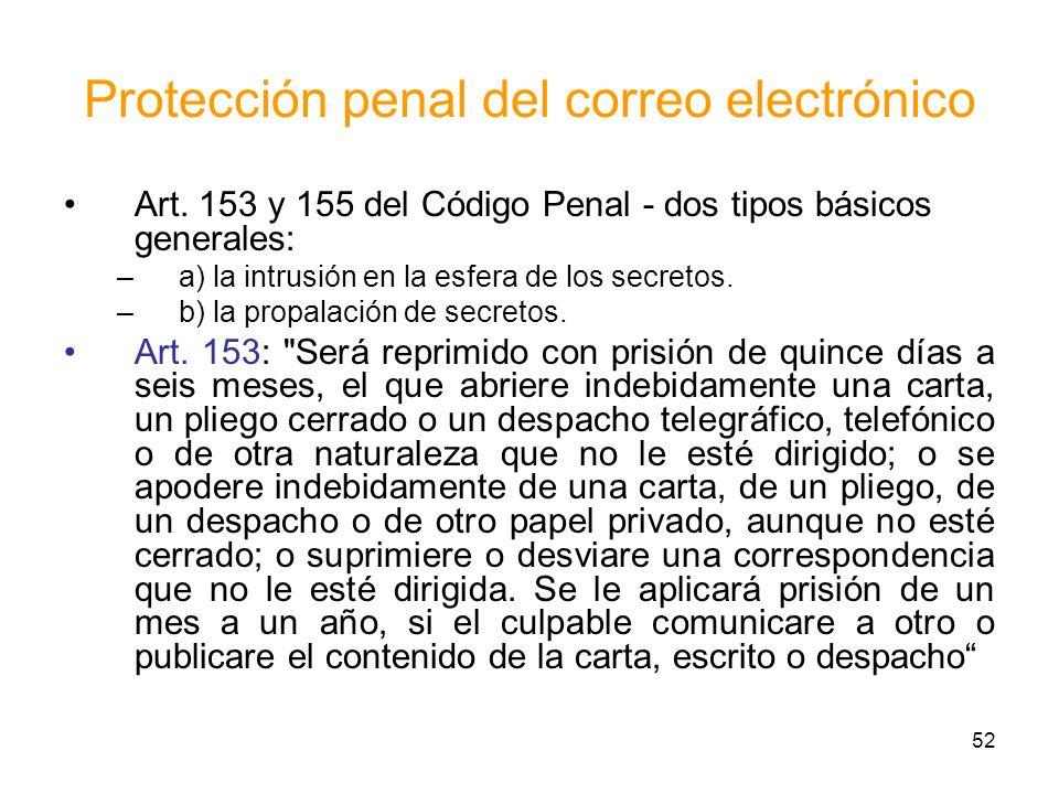 Protección penal del correo electrónico