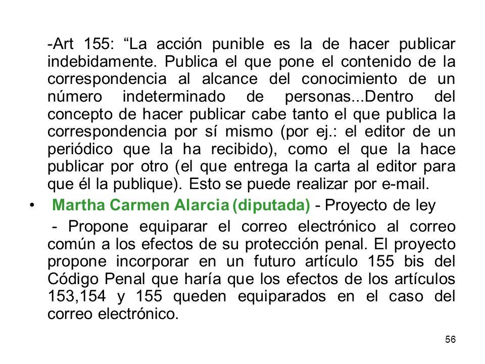 -Art 155: La acción punible es la de hacer publicar indebidamente