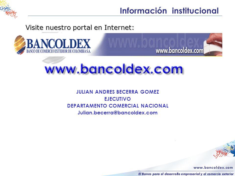 JULIAN ANDRES BECERRA GOMEZ DEPARTAMENTO COMERCIAL NACIONAL
