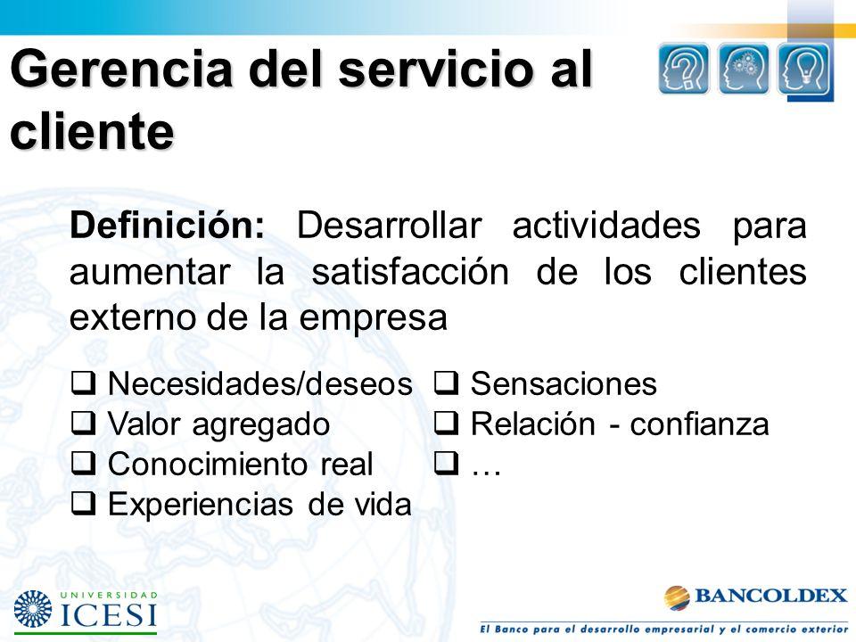 Gerencia del servicio al cliente