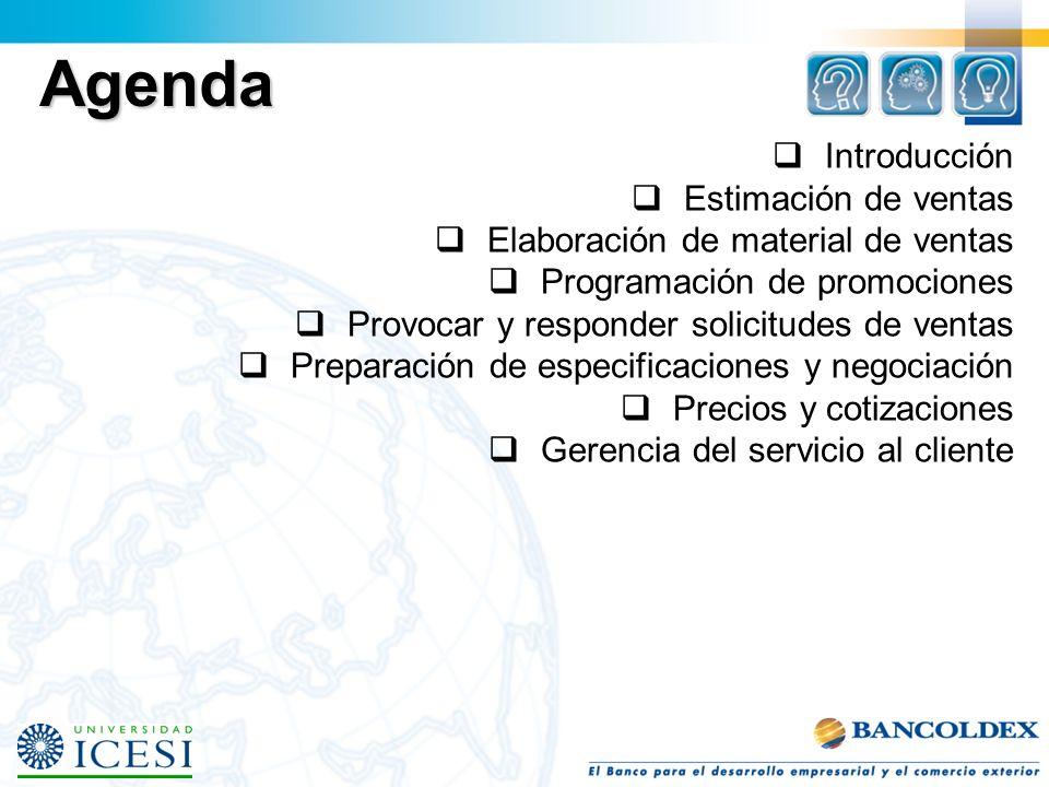 Agenda Introducción Estimación de ventas