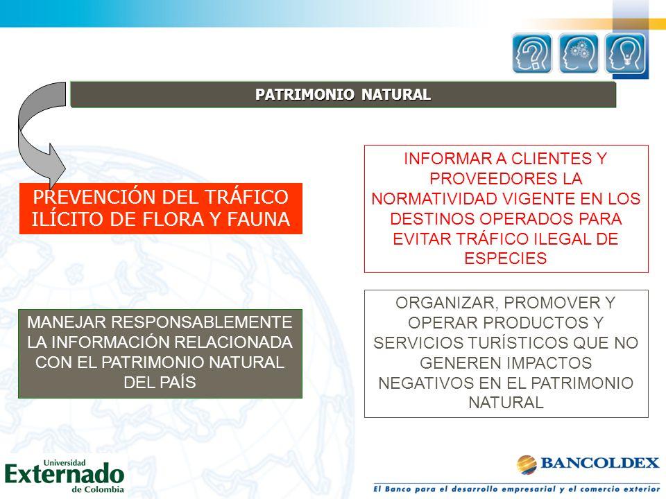 PREVENCIÓN DEL TRÁFICO ILÍCITO DE FLORA Y FAUNA
