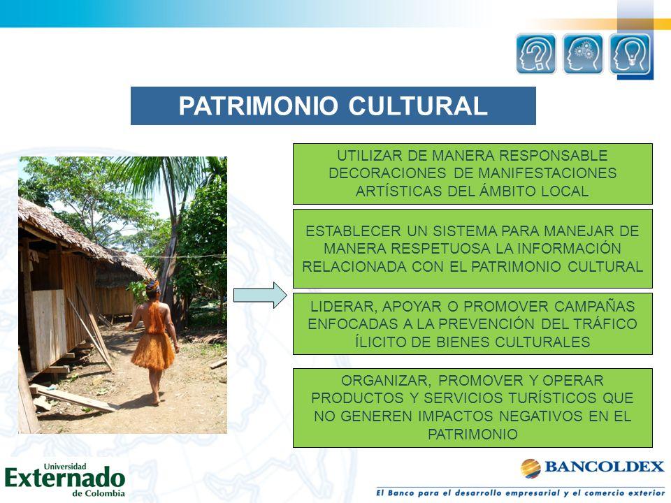 PATRIMONIO CULTURAL UTILIZAR DE MANERA RESPONSABLE DECORACIONES DE MANIFESTACIONES ARTÍSTICAS DEL ÁMBITO LOCAL.