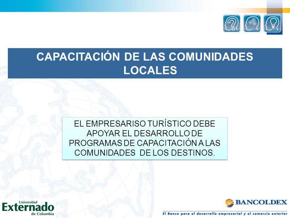 CAPACITACIÓN DE LAS COMUNIDADES LOCALES