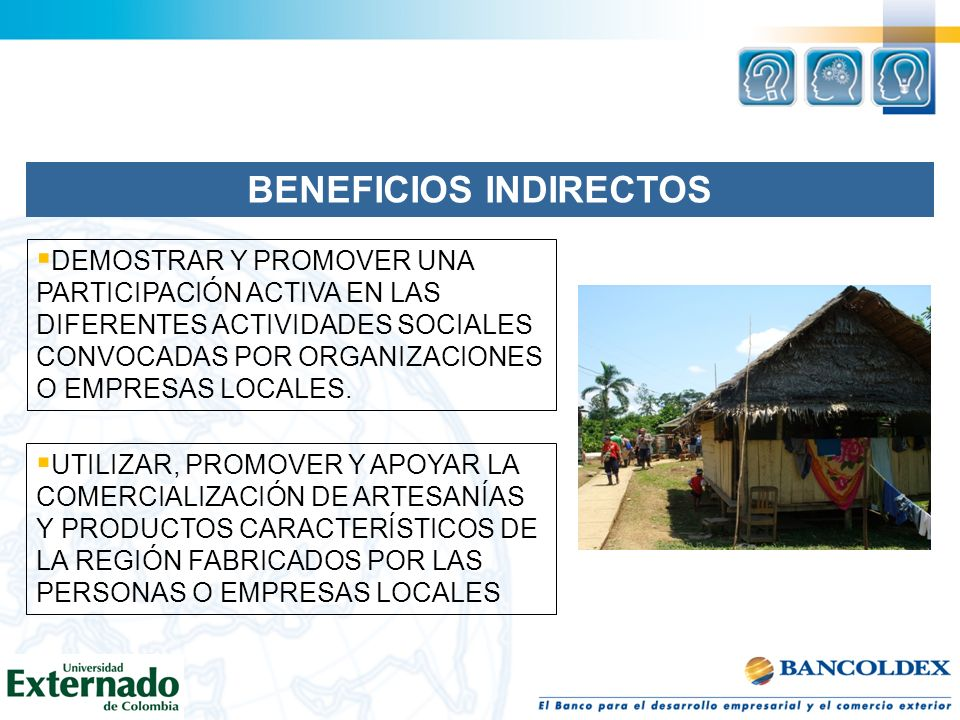 BENEFICIOS INDIRECTOS