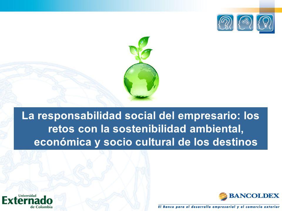 La responsabilidad social del empresario: los retos con la sostenibilidad ambiental, económica y socio cultural de los destinos