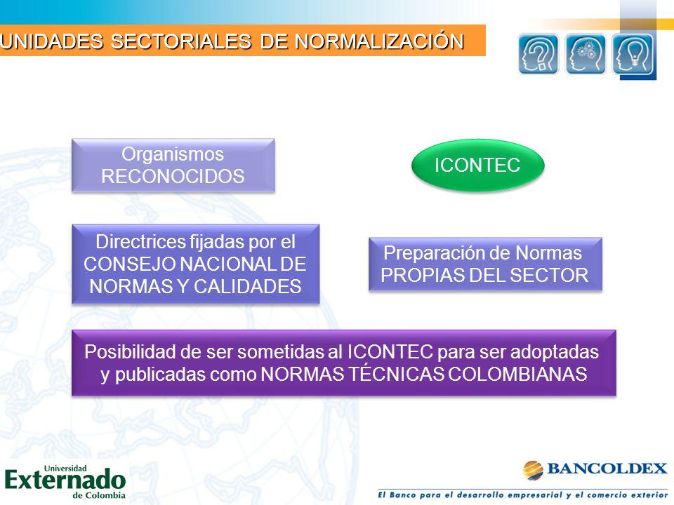 UNIDADES SECTORIALES DE NORMALIZACIÓN