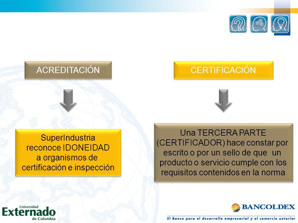 certificación e inspección Una TERCERA PARTE