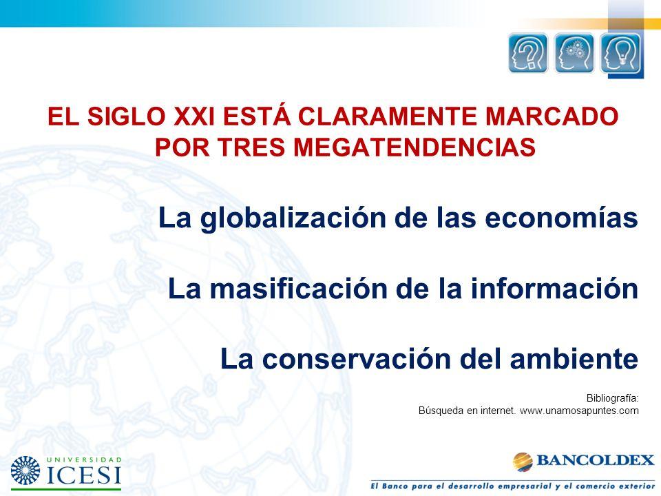 EL SIGLO XXI ESTÁ CLARAMENTE MARCADO POR TRES MEGATENDENCIAS