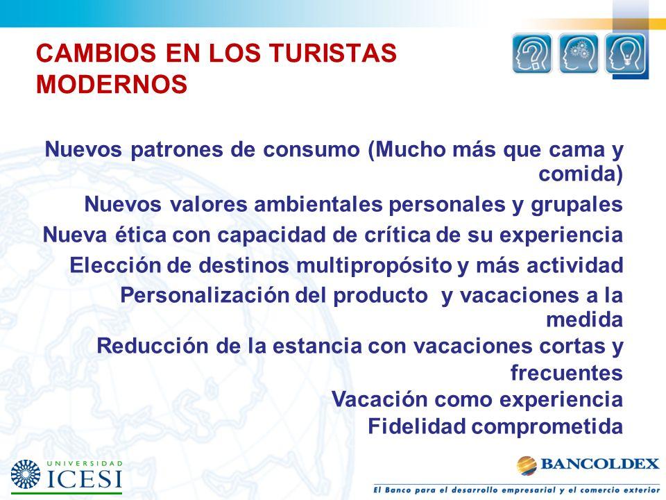 CAMBIOS EN LOS TURISTAS MODERNOS