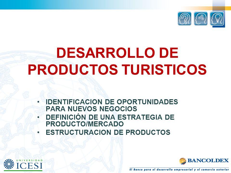 DESARROLLO DE PRODUCTOS TURISTICOS