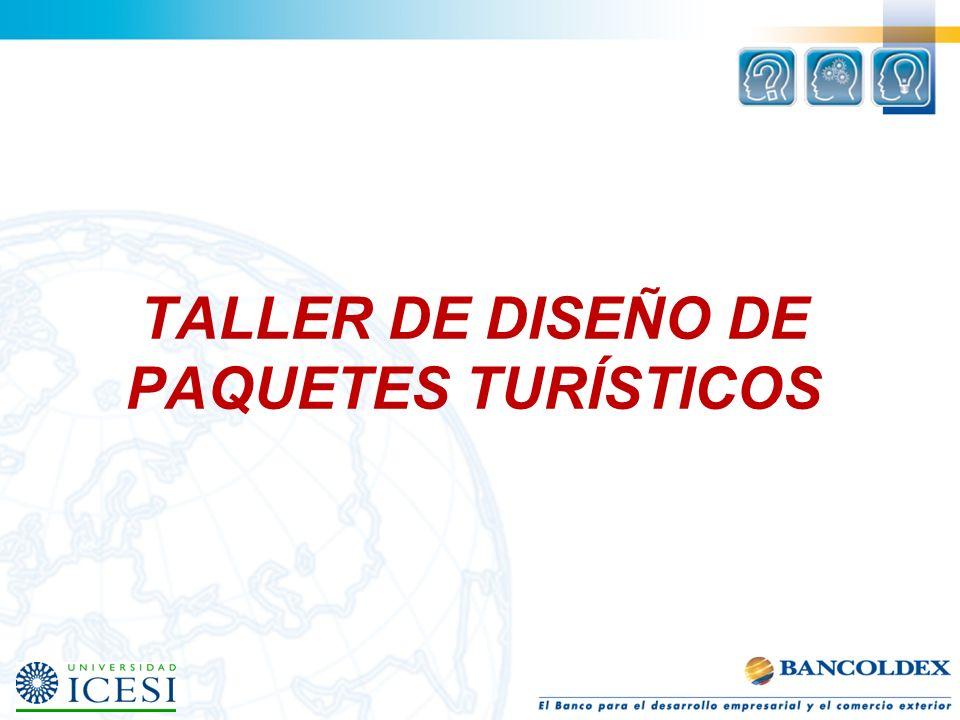 TALLER DE DISEÑO DE PAQUETES TURÍSTICOS