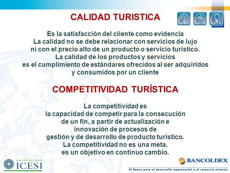 CALIDAD TURISTICA Es la satisfacción del cliente como evidencia La calidad no se debe relacionar con servicios de lujo ni con el precio alto de un producto o servicio turístico.