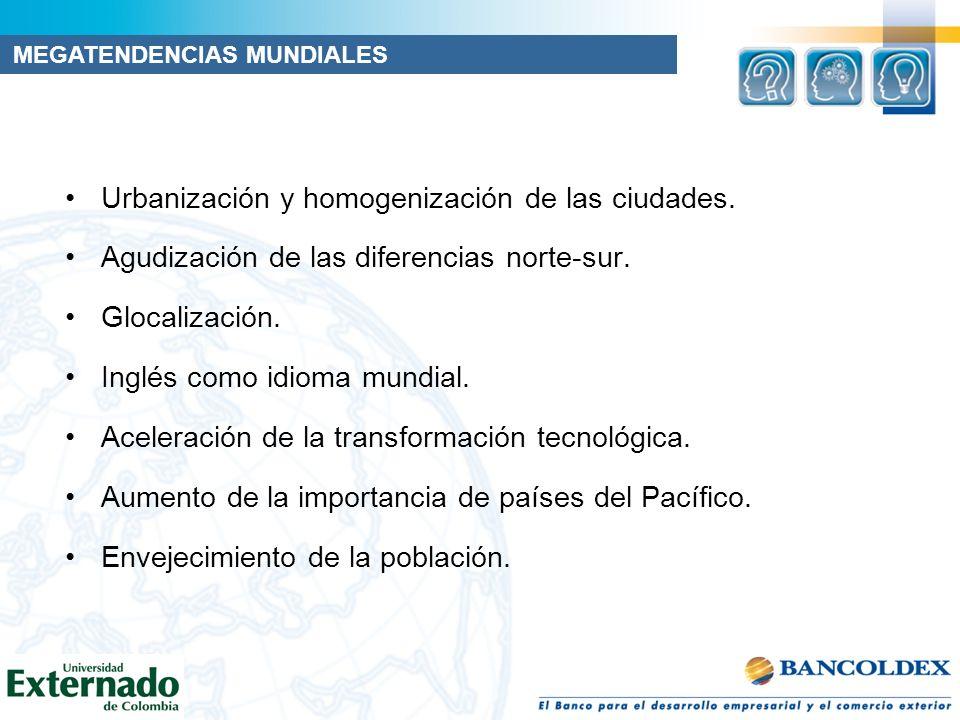 Urbanización y homogenización de las ciudades.