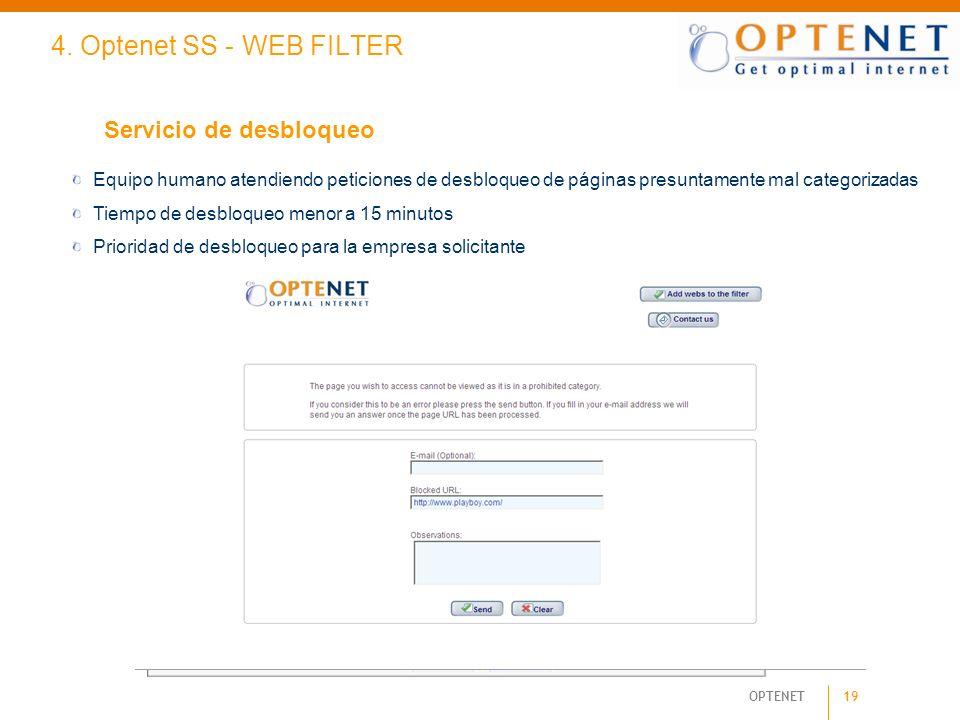 4. Optenet SS - WEB FILTER Servicio de desbloqueo